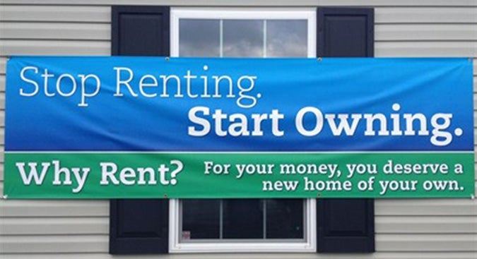 Stop renting and own your house